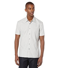 Perry Ellis® Men's Checked Short Sleeve Button Down Shirt