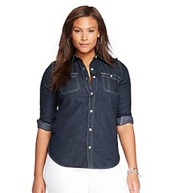 Lauren Ralph Lauren® Plus Size Denim Pocket Shirt
