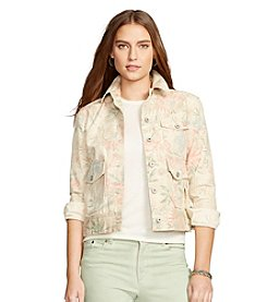 Lauren Jeans Co.® Floral-Print Cotton Jacket