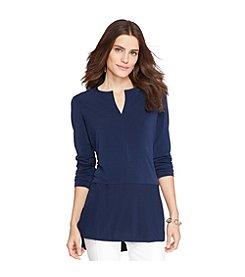 Lauren Ralph Lauren® Jersey Peplum Top
