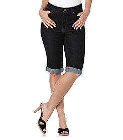Rafaella® Cuffed Denim Bermuda Shorts