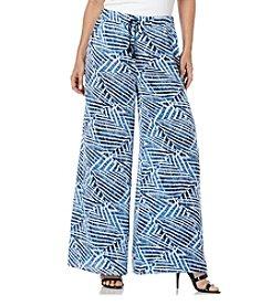 Rafaella® Printed Wide Leg Soft Pants