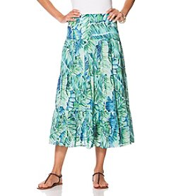 Chaps® Printed Gauze Maxi Skirt