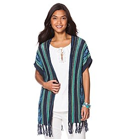 Chaps® Southwestern Fringed Sweater