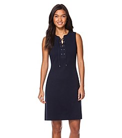 Chaps® Sleeveless Lace-Up Dress