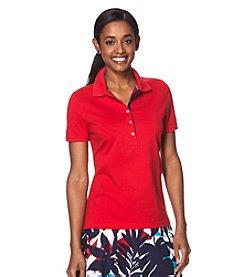 Chaps® Short Sleeve Stretch-Cotton Polo Shirt