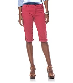 Chaps® Cropped 5-Pocket Above Knee Shorts