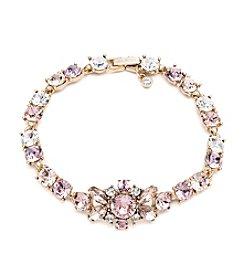 Givenchy® Goldtone Vintage Rose Flex Bracelet
