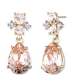 Givenchy® Goldtone Vintage Rose Post Drop Earrings