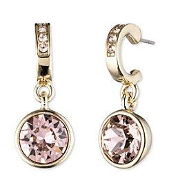 Givenchy® Goldtone Vintage Rose Drop Earrings
