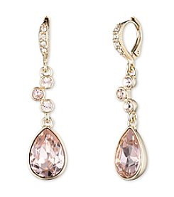 Givenchy® Goldtone Vintage Rose Drop Earrings