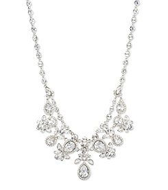 Givenchy® Silvertone Crystal Drama Necklace