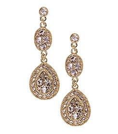 Givenchy® Goldtone Silk Linear Earrings