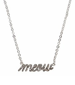 Pet Friends™ Silvertone Meow Pendant Necklace