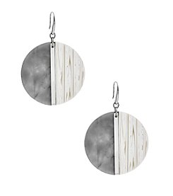 Michael Kors® Silvertone Alabaster Drop Earrings