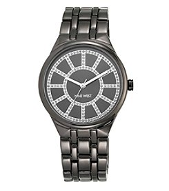 Nine West® Women's Grey Metal Bracelet Watch