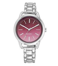 Nine West® Women's Silvertone Bracelet Watch