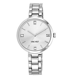 Nine West® Women's Silvertone Bracelet Watch