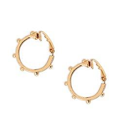 Lauren Ralph Lauren Goldtone Bali Clip Hoop Earrings