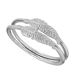 Lucky Brand® Silvertone  Delicate Double Ring