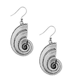 Lucky Brand® Silvertone Shell Drop Earrings