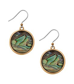 Lucky Brand® Goldtone Abalone Drop Earrings