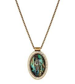 Lucky Brand® Goldtone Abalone Pendant Necklace
