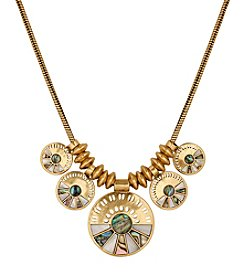 Lucky Brand® Goldtone Abalone Statement Collar Necklace