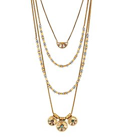 Lucky Brand® Two Tone Abalone Necklace