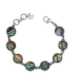 Lucky Brand Silvertone Abalone Link Bracelet