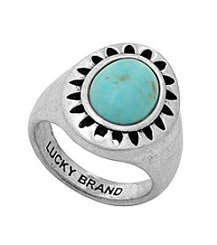 Lucky Brand® Silvertone Turquoise Ring
