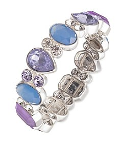 Nine West® Silvertone And Multi Stretch Bracelet