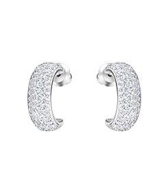 Swarovski® Silvertone Palace Pierced Earrings