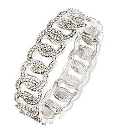 Nine West Vintage America Collection Silvertone Circle Stretch Bracelet
