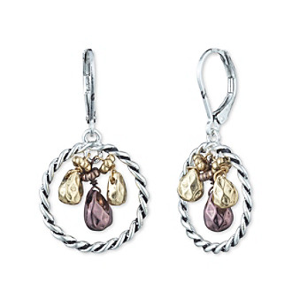 Nine West Vintage America Collection® Tritone Shaky Orbital Drop Earrings