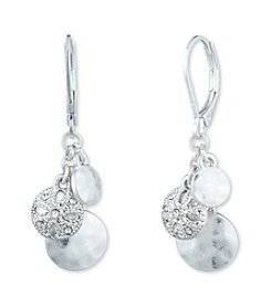 Nine West Vintage America Collection® Silvertone And Crystal Shaky Leverback Drop Earrings