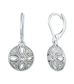 Nine West Vintage America Collection® Silvertone And Crystal Leverback Drop Earrings