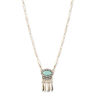 Nine West Vintage America Collection® Goldtone And Turquoise Small Pendant Necklace