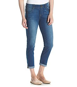 Democracy Whisker Wash Roll Cuff Capri Jeans