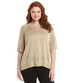 MICHAEL Michael Kors® Plus Size Mesh Sleeve Side Slit Top