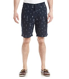 Nautica® Men's Anchor Print Poplin Shorts