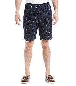Nautica® Men's Anchor Print Poplin Shorts