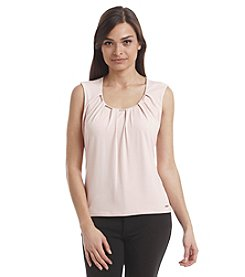 Calvin Klein Petites' Chain-Neck Pleated Tank
