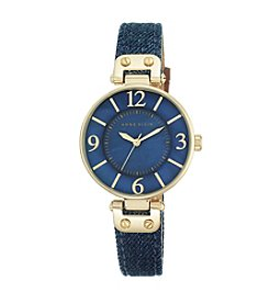 Anne Klein Denim Strap Watch