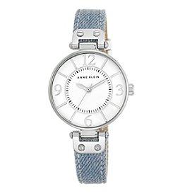 Anne Klein Denim Strap Watch