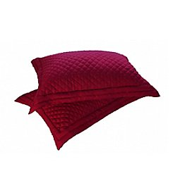 Lotus Home 2-pk. Microfiber Stain and Water-Resistant Diamond Quilt Standard Shams
