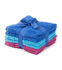 LivingQuarters 6-pk. Back To School Cotton Washcloths