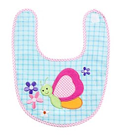 Cuddle Bear® Baby Girls' Butterfly Bib