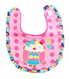 Cuddle Bear® Baby Girls' Owl Bib