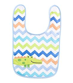Cuddle Bear® Baby Boys' Chevron Alligator Bib
